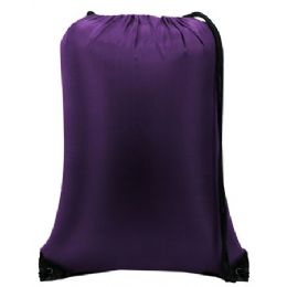 """60 Units of Value Drawstring Backpack-Purple - Backpacks 15"""" or Less"""