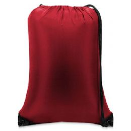 """60 Units of Value Drawstring Backpack-Red - Backpacks 15"""" or Less"""