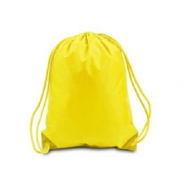 """60 Units of Drawstring Backpack - Bright Yellow - Backpacks 15"""" or Less"""