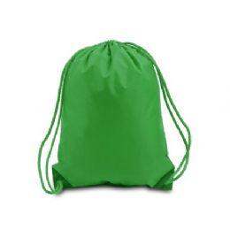 "60 Units of Drawstring Backpack - Kelly - Backpacks 15"" or Less"