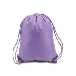 "60 Units of Drawstring Backpack - Lavender - Backpacks 15"" or Less"