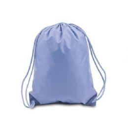 "60 Units of Drawstring Backpack - Light Blue - Backpacks 15"" or Less"