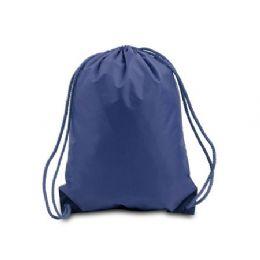 "60 Units of Drawstring Backpack - Navy - Backpacks 15"" or Less"