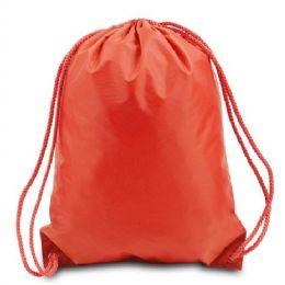 "60 Units of Drawstring Backpack - Orange - Backpacks 15"" or Less"