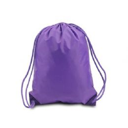 """60 Units of Drawstring Backpack - Purple - Backpacks 15"""" or Less"""