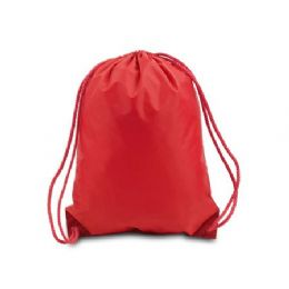"""60 Units of Drawstring Backpack - Red - Backpacks 15"""" or Less"""