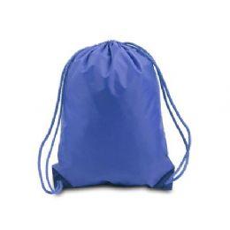 """60 Units of Drawstring Backpack - Royal - Backpacks 15"""" or Less"""