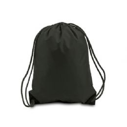 60 Units of Drawstring Backpack - Black - Backpacks 17""