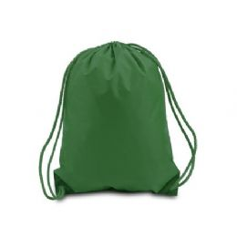 60 Units of Drawstring Backpack - Forest - Backpacks 17""