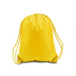 60 Units of Drawstring Backpack - Golden Yellow - Backpacks 17""