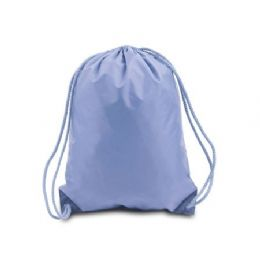 60 Units of Drawstring Backpack - Light Blue - Backpacks 17""