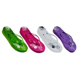 36 Units of Floral Jelly Strap Sandal - Girls Sandals