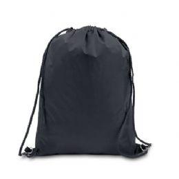 "48 Units of Drawstring Backpack - Black - Backpacks 15"" or Less"