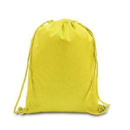 """48 Units of Drawstring Backpack - Bright Yellow - Backpacks 15"""" or Less"""