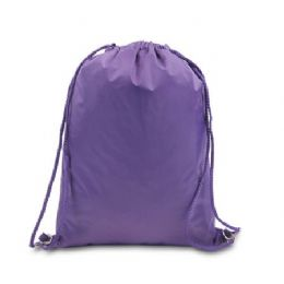 """48 Units of Drawstring Backpack - Purple - Backpacks 15"""" or Less"""