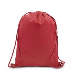 """48 Units of Drawstring Backpack - Red - Backpacks 15"""" or Less"""