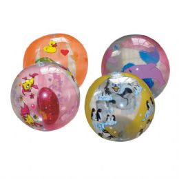 48 Units of Inflatable Ball Animal Prints 9Inch - Summer Toys