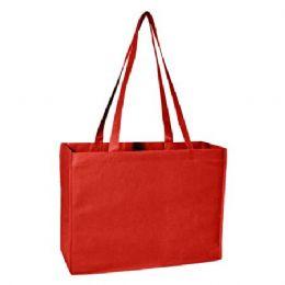 100 Units of Deluxe Tote Jr - Red - Tote Bags & Slings