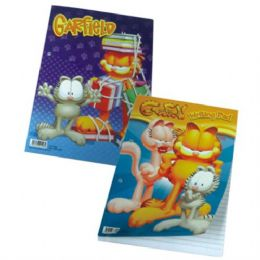 96 Units of Garfield Writing Pad 8.5in by 11in 50 Shee - Coloring & Activity Books