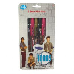 48 Units of Jonas Stick Pen 5PK - Licensed School Supplies