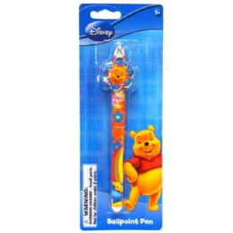 48 Units of Clip Pen Die Cast POOH - Licensed School Supplies