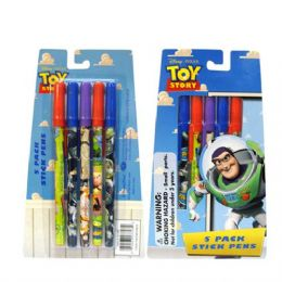 48 Units of Stick Pen 5PK Toy Story - Licensed School Supplies