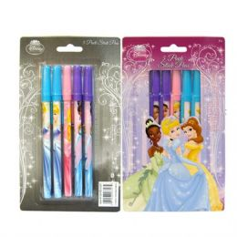 48 Units of Stick Pen 5PK Princess - Licensed School Supplies