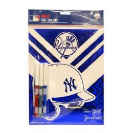 48 Units of Foil Fun Set Yankees - Licensed School Supplies