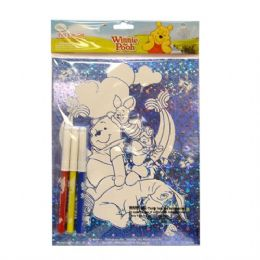 48 Units of Foil Fun Set Pooh - Licensed School Supplies