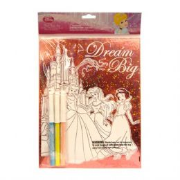 48 Units of Foil Fun Set Princess - Licensed School Supplies