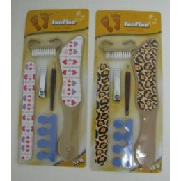 144 Units of 6pc Printed Pedicure Set - Manicure and Pedicure Items