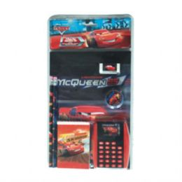 24 Units of 7PC Stationery Set Cars - Licensed School Supplies
