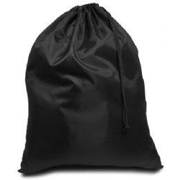 96 Units of Drawstring Laundry Bag - Black - Laundry  Supplies