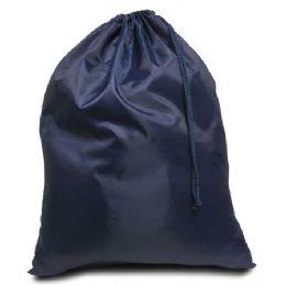 96 Units of Drawstring Laundry Bag - Navy - Laundry  Supplies