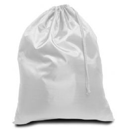 96 Units of Drawstring Laundry Bag - White - Laundry  Supplies