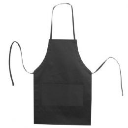 72 Units of Butcher Style Cotton Twill Apron Black - Kitchen Linens