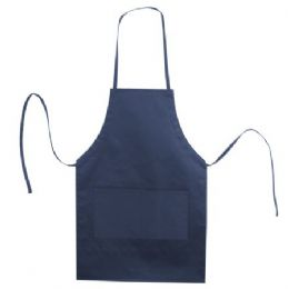 72 Units of Butcher Style Cotton Twill Apron Navy - Kitchen Linens