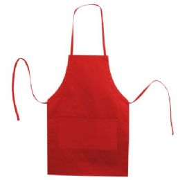 72 Units of  Butcher Style Cotton Twill Apron Red - Kitchen Linens