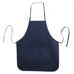 72 Units of Long Round Bottom Cotton Twill Apron Navy - Kitchen Linens