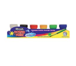 72 Units of Bazic 6 Color Poster Paint With Brush - Paint, Brushes & Finger Paint