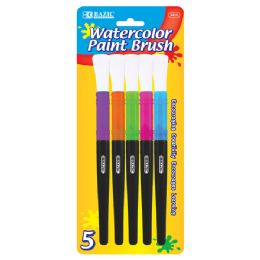 144 Units of Bazic Jumbo Watercolor Paint Brush (5/pack) - Paint, Brushes & Finger Paint