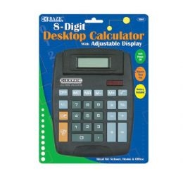 48 Units of BAZIC 8-Digit Large Desktop Calculator w/ Adjustable Display - Calculators