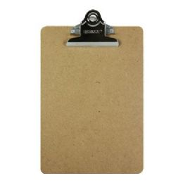 72 Units of BAZIC Memo Size Hardboard Clipboard w/ Sturdy Spring Clip - Clipboards and Binders