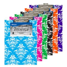 48 Units of BAZIC Standard Size Damask Paperboard Clipboard w/ Low Profile Clip - Clipboards and Binders