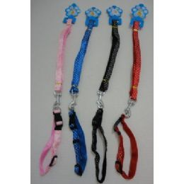 "120 Units of Polka Dot Collar & 48"" Leash Combo - Pet Collars and Leashes"