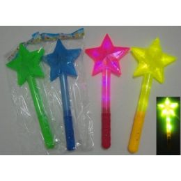"""30 Units of 15"""" Wand with Large Star - Light Up Toys"""
