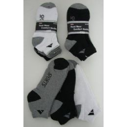 240 Units of 3pr A SPORT Anklets BLK/GRY/WHITE 10-13 - Mens Ankle Sock