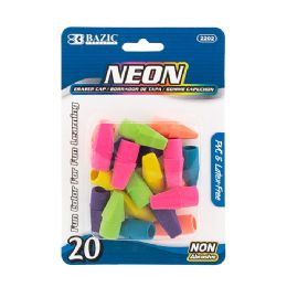 72 Units of Bazic Neon Eraser Top (20/pack) - Erasers