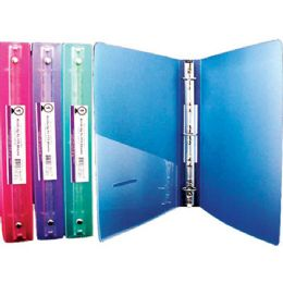 """48 Units of BAZIC 1"""" Glitter Poly 3-Ring Binder w/ Pocket - Clipboards and Binders"""
