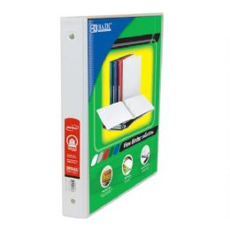 """48 Units of BAZIC 1"""" White 3-Ring View Binder w/ 2-Pockets - Clipboards and Binders"""